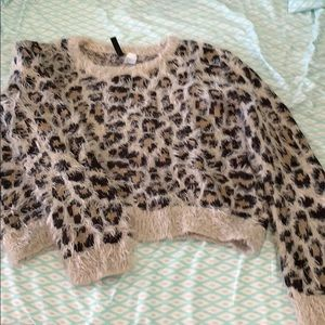 Cheetah pattern sweater